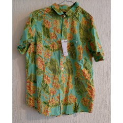 Men's Shirt with palm leaves
