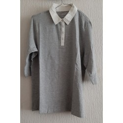 Blouse gray 3/4 sleeves