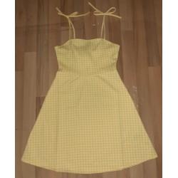 Ladies dress yellow checkered
