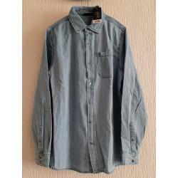 Jacket Men's shirt jeans blue