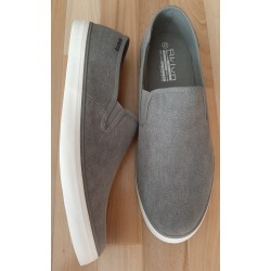 Men's shoe canvas gray slip-on