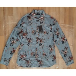 Men's shirt with brown plants