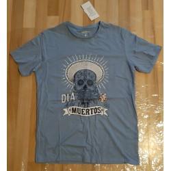 Men's T-shirt blue skull...