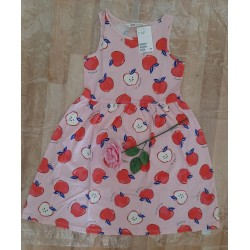 Children's dress with apples