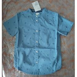Boys shirt blue palm trees