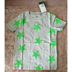 Boys T-shirt gray with stars