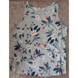 Blouse / Tanktop gray with...
