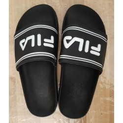 Men's slippers black with...