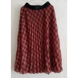 Ladies skirt folded burgundy