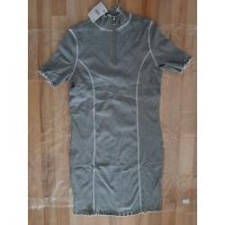 Ladies dress stretch gray