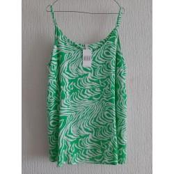 Blouse green / white
