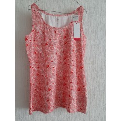Blouse red / white with...