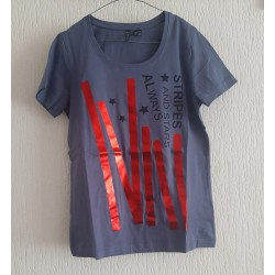 Ladies T-shirt Stripes and...