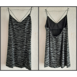 Ladies dress silver colored...