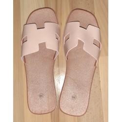 Ladies slipper light pink